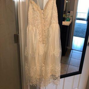 Vici off-white mini dress